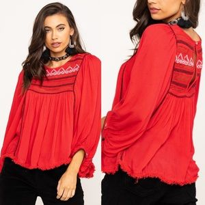 Free People / Cyprus Avenue Embroidered Top NWT
